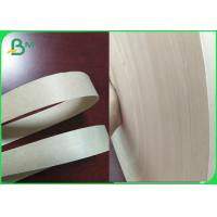 Quality FDA & FSC 60gsm Unbleached Kraft Paper 15mm Roll For Paper Straws Making for sale