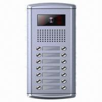 Quality Wired Video Door Phone/Access Control Camera with 16 Apartments Maximum Capability for sale