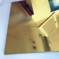 Quality Thickness 0.3mm Aluminium Mirror Sheet 87% Reflective Data For Lighting Industry for sale