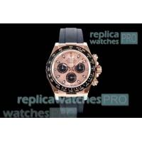 Quality JH Factory Swiss Copy Rolex Daytona Rose Gold Chronograph Dial Watch for sale