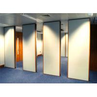 Quality 85mm Wood Melamine Conference Room Partition Walls Sliding Types for sale