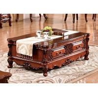 China classic 2 drawers wooden coffee table with storage on sale