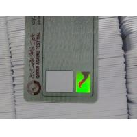 China Contactless Smart Card OEM Hologram Sticker Security ID Card with CMYK printing on sale