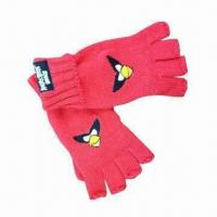 China Kid's Winter Gloves, Made of 100% Acrylic, with Cartoon Logo on sale