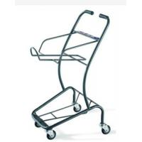 Buy Wire Mesh Shopping Basket Trolley Japanese Style / Double Basket Shopping at wholesale prices