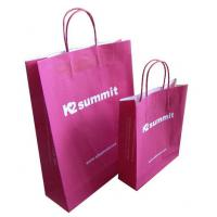 Quality Clothing Red Kraft Paper Shopping Bags China Wholesale Price for sale