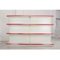 Quality Single - side Store / Supermarket Display Shelving with 4 Layers Perforated Back Panel for sale