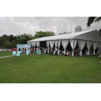 Fire Resistant Luxury Wedding Tent With Glass Wall System For Outdoor Wedding Event