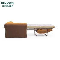 China Restaurant Hotel Sofa Bed With E1 Grade Plywood Inner Frame on sale