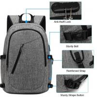 Quality Travel Laptop Backpack,Business grey sports Laptops Backpack with USB laptop bags backpack boys sports backpacks for sale