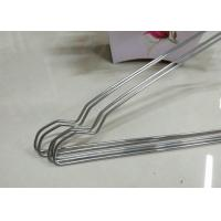 Quality Beautiful Plastic Coated Wire Hangers , White Metal Coat Hangers For Laundry Room for sale
