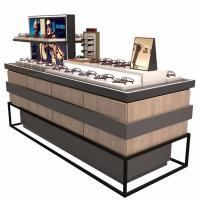 Quality Fashion Customized Glass Display Cabinet With LED Light For Glasses Store for sale