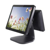 Quality Aluminium Alloy Housing Dual Screen Pos Energy Saving Black / White Color for sale