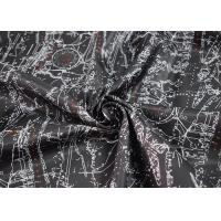 Quality Digital Printed Apparel Fabric / Printed Polyester Fabric Soft Touch for sale
