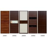 China Sliding Wardrobe Closet doors in melamine board  and Leather with Fabric covered MDF doors also Solid wood Cabinets on sale