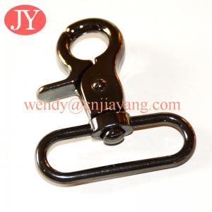 China jiayang metal gun color trigger snap hook for leather handbags on sale