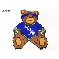 Quality Bear Catch Money Logo Clothing Embroidery Patches For Hoodies And Jackets for sale
