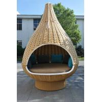 Quality Outdoor Rattan Daybed , KD Nestrest For Beach / Poolside / Hotel for sale