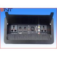 Quality Brushed Cover Desktop Flip Up Power Outlet Universal Standard With Network Port for sale