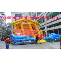 Quality Renting Inflatable Fun City With Moonwalk Bounce For Adult And Child for sale