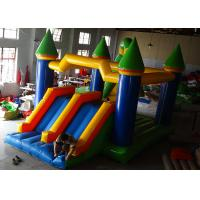 Quality Backyard Kids Inflatable Jumping Castle High Strength With Double Down Slides for sale