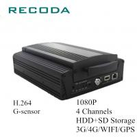 Quality Mobile Bus Car Dvr Camera Recorder HDD/SD 4G/WIFI/GPS 4Ch 1080P Resolution for sale