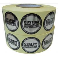 Quality Personalised Glossy Silver Custom Printed Hologram Stickers Polyester Film Material for sale