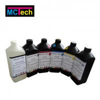China LED UV ink for Epson DX5/DX6/DX7, printing for hard & soft material on sale