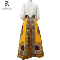 Quality Cotton Printed A Line Style African Print Skirts Designs Batik Fabric Fashion for sale