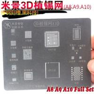 Quality A8 A9 A10 3D Tin Plant groove BGA Reballing Stencil CPU HDD WIFI IC for sale