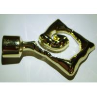 Quality Iron Window Curtain Rod Ends Metal Finials Accessory for 25mm Curtain Rods for sale