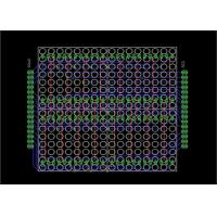 Quality LED Stripboard Circuit Board Layout , PCB Board Layout For 16  X 16 Dot Matrix Display for sale