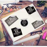 China Customized Self-Adhesive Printable Cleanly Removable Labels Stickers on sale