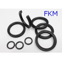 Quality FKM Black Heat Resistant Quad Ring For Diesel Fuels , Rubber X Ring Seals for sale