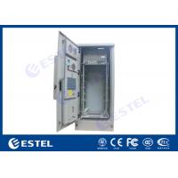 Quality 42U Air Conditioner Type Outdoor Telecom Cabinet / Double Wall Heat Insulated Communication Enclosure for sale