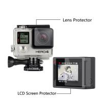 Quality High Transparency LCD Screen Protector + Waterproof Housing Case Lens Protective Film For GoPro Hero 4 3+ 3 for sale