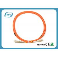 Telecommunication Level Fiber Optic Patch Cord With 2.0mm LC Fiber Connector