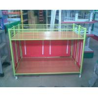 Quality Steel Supermarket Clothes Promotion Cart / Hand Push Exihibition Display Table for sale