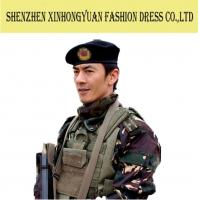 ... Buy Unisex Black French Military Beret with Band   100% Wool Security  Forces Beret at 3ccc6847585