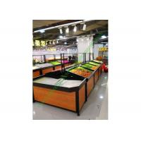 Buy 1 layer Metal Wooden Display Rack For Grocery Shop , 2 Years Warranty at wholesale prices
