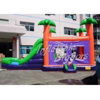 Tropical Inflatable Bounce House Birthday Party , EN71 UL Fun Inflatables
