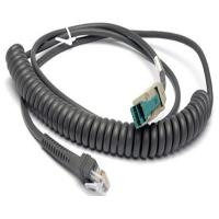 Quality CBA-U14-C09ZAR Coiled 12V powered USB to RJ45 10P10C Cable for Motorola Symbol Scanner for sale