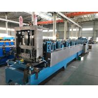 Quality 16 - 18 Stations CZ Purlin Roll Forming Machine With Hydraulic Cutting / Punching for sale