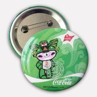 Quality 2008 Beijing Olympic Games Mascot Tin Badge Button 5.8cm for sale