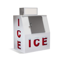 Quality Commercial Single Door Ice Storage Merchandiser With Sticker for sale