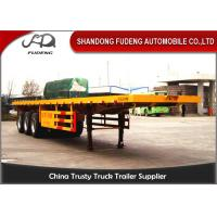 Quality 40 Ft Flatbed Container Semi Truck Trailer BPW Axles Air Suspension for sale