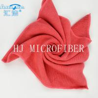 Quality HUIJIE Supplier MIcrofiber Hand Towel Red color Microfiber Cleaning Cloth FOR Home use for sale