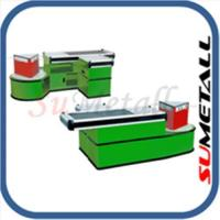 Quality Checkout counters and cash desk for supermarkets for sale