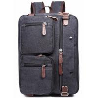 Quality Iron Grey Polyester Laptop Bag With Pockets Drop Resistance Large Capacity for sale