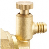 """Quality 6021 Brass Manifold End Piece Integrated With G1"""" Flexible Female Nut And Manually Operated Air Exhaust for sale"""